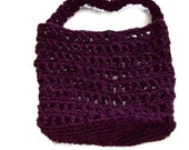 Reusable Produce Bag ,Mesh Bag, Tote Bag. Made from Plastic Yarn Free Clutch Included