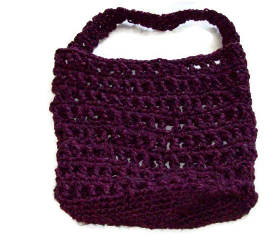 CLEARANCE Reusable Produce Bag ,Mesh Bag, Tote Bag. Made from Plastic Yarn Free Clutch Included