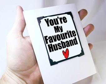Funny Anniversary Card for Him. Birthday Card for Guys. Funny Magnet Card for Him. MT115