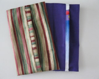 Tissue Case -Purple and Stripe-Set of 2