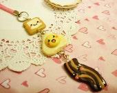 Cute Happy Breakfast Kawaii Clay Cell Phone Charm