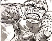 The Thing sketchcard drawn by Ben Dewey & Steve Lieber