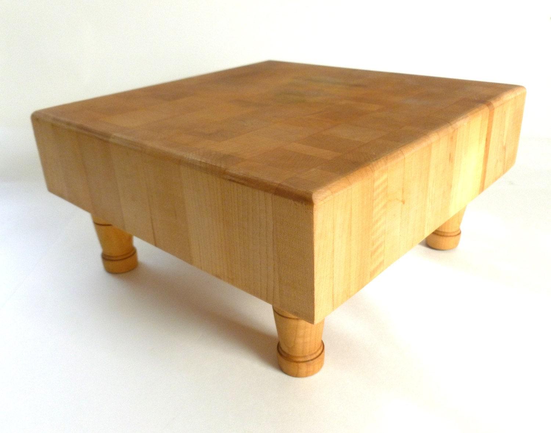 Wood Block Board ~ Vintage heavy oak wood butcher block cutting board x