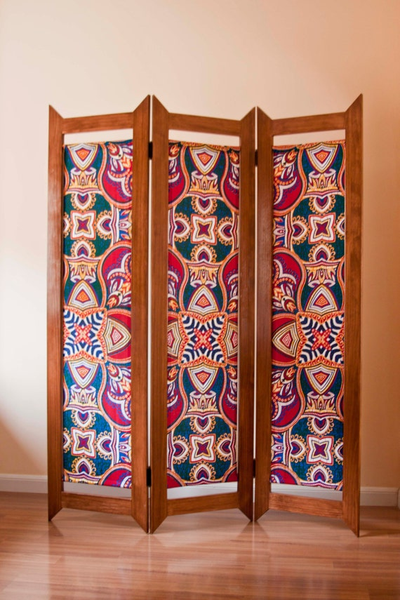 Reserved for bradysheena folding screen room divider made from - Telas para biombos ...