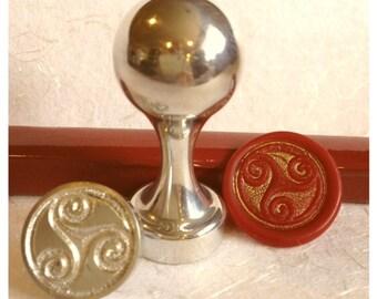 Triskele (3 whorls) Design Wax Seal Stamp
