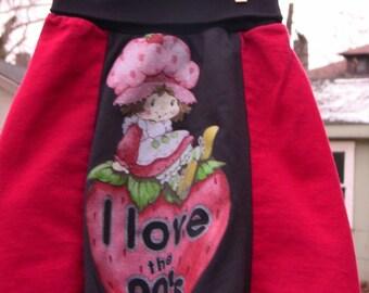 Eco-Friendly Strawberry Shortcake Skirt Girls Size 4/5T