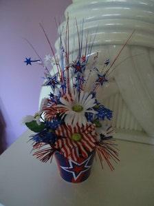 Day labor day korb seide arrangement blumen herzstück floral dekor
