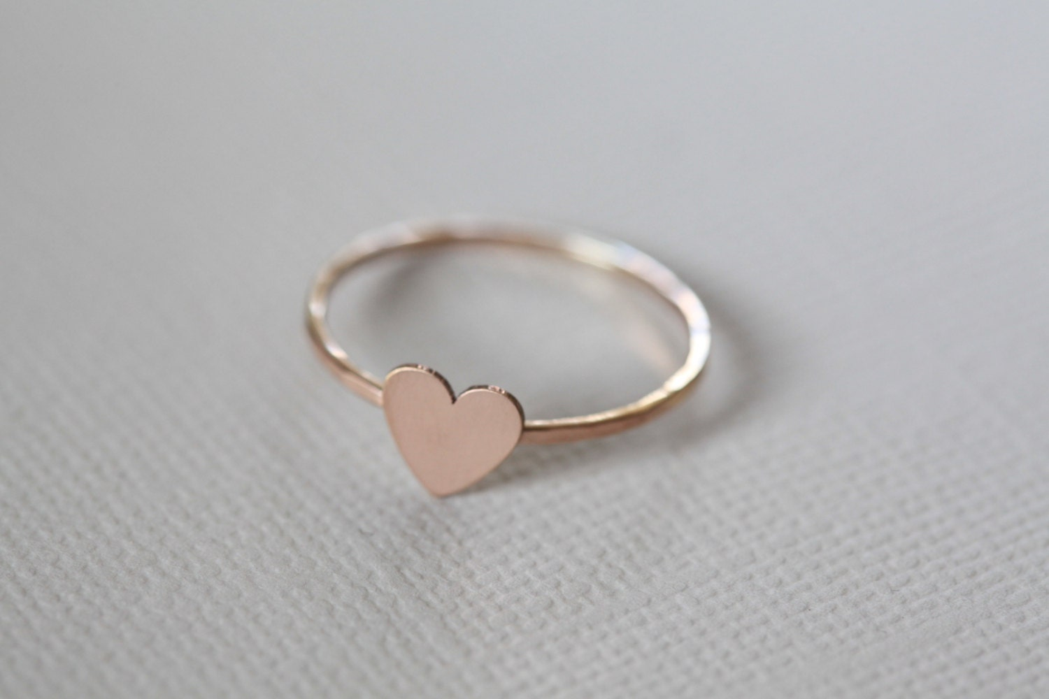 tiny heart ring dainty ring rose gold ring. Black Bedroom Furniture Sets. Home Design Ideas