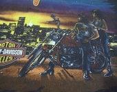 vintage tshirt HaRLEY DaVIDSON shirt bikers in love L Elkridge MD