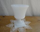 Vintage Milk Glass Urn