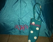 Monogrammed umbrella with carrying sleeve