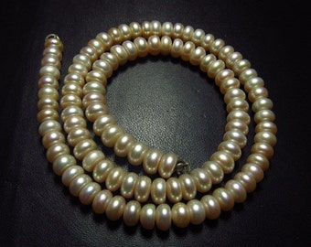 Fresh Water Pearl - 15 Inches Full Strand - Light Pink Colour Smooth Rondell Beads size 6 mm approx