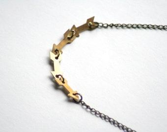 Brass Arrow Necklace