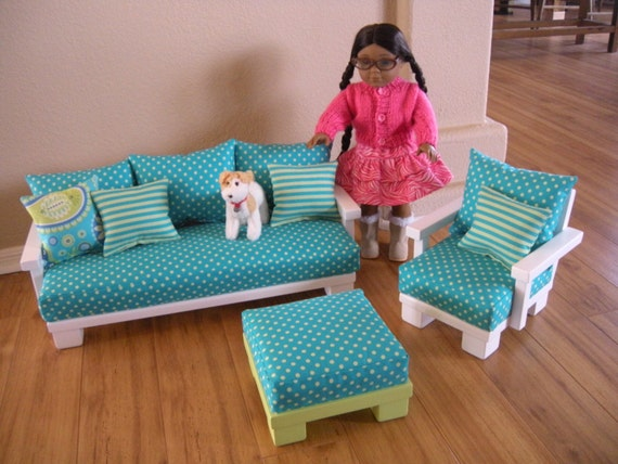 Items Similar To Doll Couch Chair Living Room Furniture