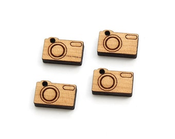 Mini Camera Charms - (with or without holes) - Laser Cut Wood - Etsy Itsies by Timber Green Woods - Made in the USA.