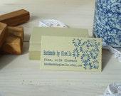 Sunflower Cluster 3/4 Line  Olive Wood Business Stamp