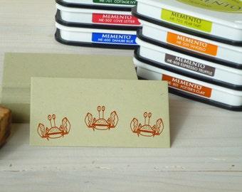 Little Crab Olive Wood Stamp