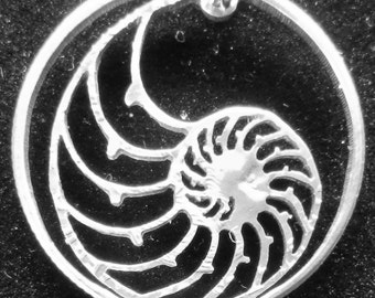 Nautilus Shell Half Dollar Hand Cut Coin Jewelry