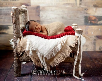 Burlap Blanket Newborn Photo Props Baby Blanket Layering Blanket Photography Prop Burlap Newborn Photo Props