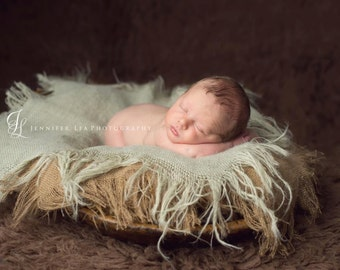 Newborn Photo Prop Burlap Blanket Photography Prop Burlap Layering  Mini Burlap Blanket Basket Filler Basket Stuffer