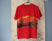 Red Arizona horizon shirt- size Large