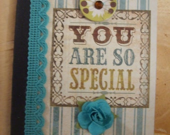 Vintage Inspired You Are So Special Altered Composition Book