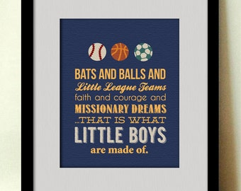 LITTLE BOYS are Made Of... Sports Printable Artwork
