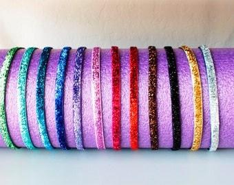 Non Slip Glitter Headbands--Choose Your Own Color