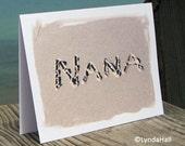 Mother's Day Beach Theme NANA Cards for set of 3- card for Grandmother,Grandparent's Day, Grandma, Nana Birthday Card, beach writing, Nana