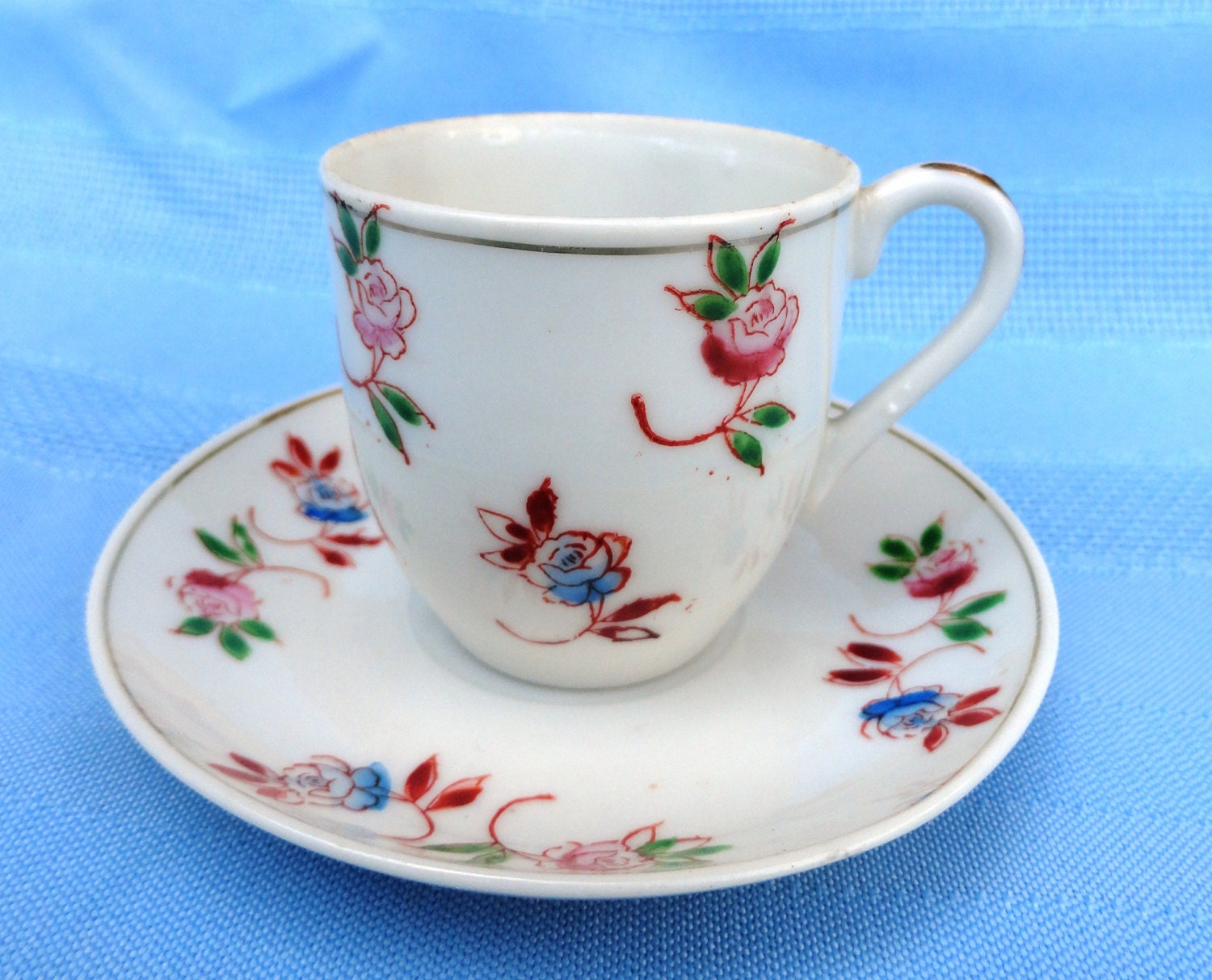 Miniature Occupied Japan Teacup And Saucer Fine By