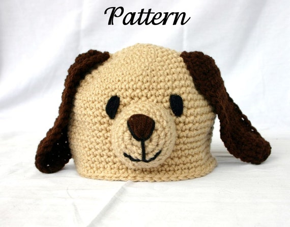 Puppy Dog Hat Knitting Pattern : Baby Toddler Puppy Hat PDF Crochet PATTERN 6-36 month sizes