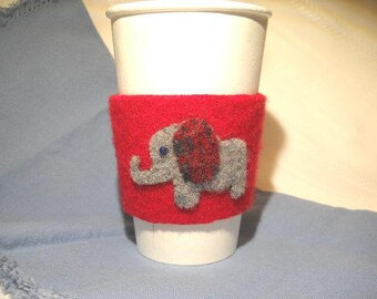 Red Elephant Cup Cozy
