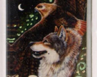 Wolf Hawk Pendant