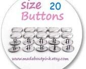 Size 20 - Cover button 20pcs/pack