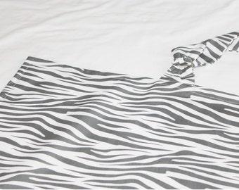 Grey Zebra Nursing Cover
