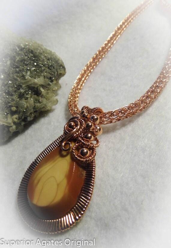 Bruno Jasper Wire Wrapped Copper Necklace