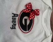 SEC Game Day Onesie Georgia Bulldogs with Matching Hairbow