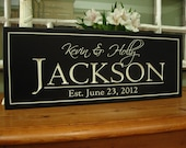 Personalized Family name signs last name signs Personalized Established family signs 4S1