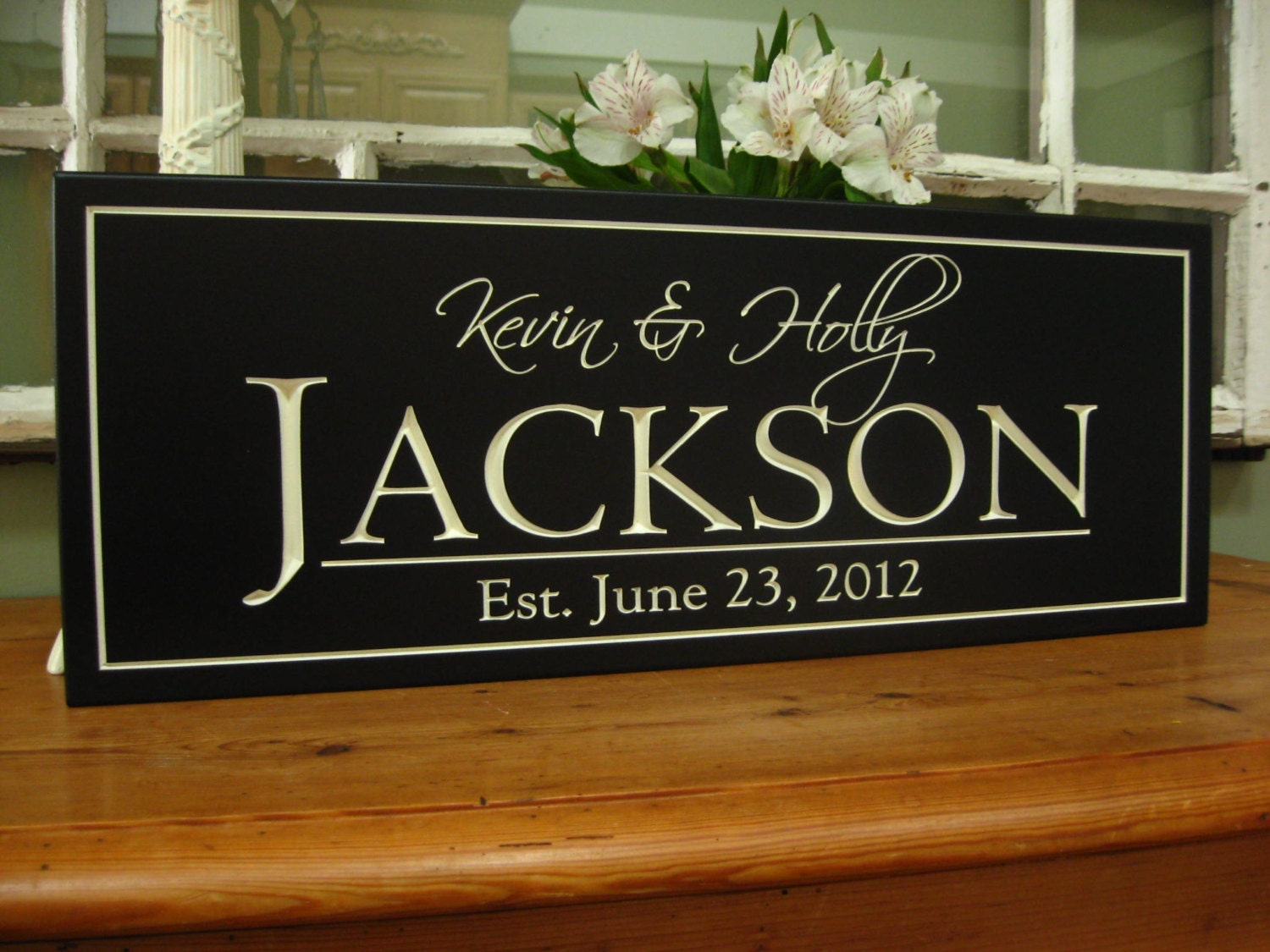 Monogrammed Wedding Gift: Personalized Family Name Signs Last Name By SignsofaDaydreamer