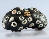 Evening bag Purse Glittery Ebony with Semi Precious Stones