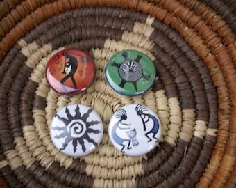 Kokopelli fun in the sun Native American Button Set