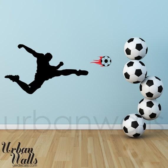 Vinyl Wall Sticker Decal Art - Soccer Player