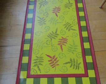 Vermont Ferns Floorcloth