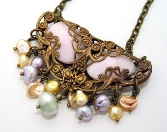 Pearl Necklace Victorian Necklace Victorian Style