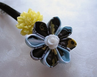 Bees in Spring Kanzashi Flower French Barrette