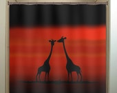 View animal shower curtains by TablishedWorks on Etsy