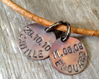 Mens Christmas Gift- Guys Gift- Mens Leather Necklace- Man Birthday- Personalized Jewelry