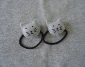 Kitty Cat Ponytail Holders