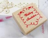 Wedding Invitation Line Ornament Stamp (1.6 x 1.6in)