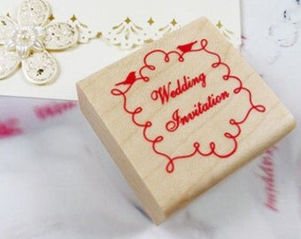 Wedding Invitation Line Ornament Stamp (1.6 x 1.6in)